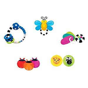 Sassy Baby's First Rattle and Teether Gift Set
