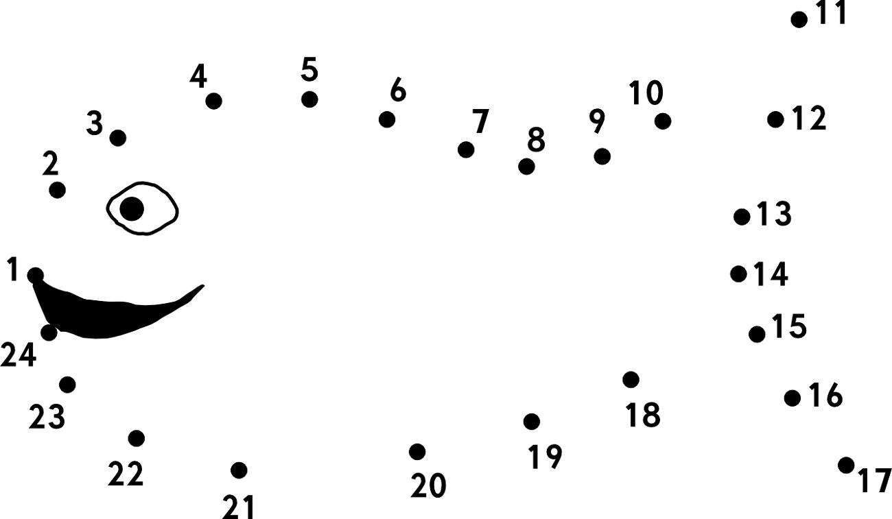 Connect The Dots For Kids Fishpng Sınıf öğretmenleri Için