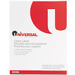 """Universal Shipping labels, 8.5"""" x 11"""", White - 100 count"""