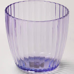Carnation Home Magenta, Rib-Textured Tumbler
