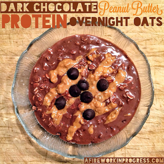 Dark Chocolate Peanut Butter Protein Overnight Oats