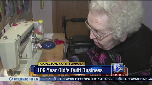 106-year-old entrepreneur's quilting business