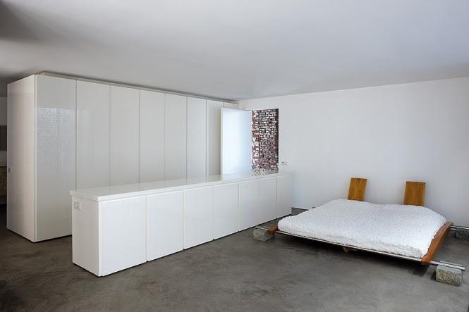 Contemporary bedroom dressing area