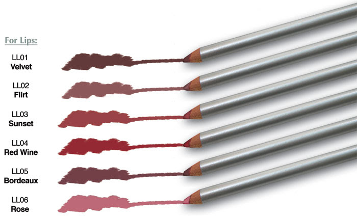 Mineral Lip Liners, Gluten Free, Soy Free