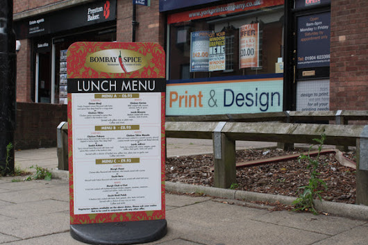 Pavement sign including double sided graphics – York Print Company