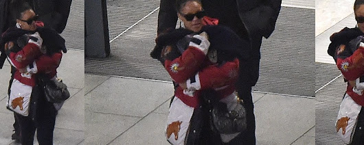 Rihanna spotted arriving in London - RIHANNA ONLINE