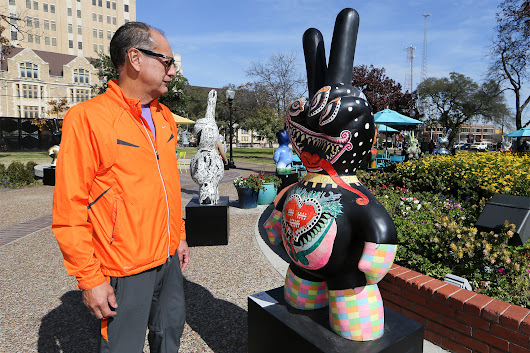 'Peace out' on display at Travis Park