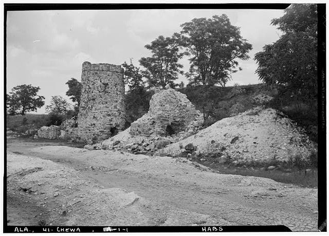 1.  Historic American Buildings Survey E. W. Russell, Photographer, June 19, 1937 REMAINS OF OLD LIME KILNS. - Chewacla Limeworks, Limekiln Road, Chewacla, Lee County, AL