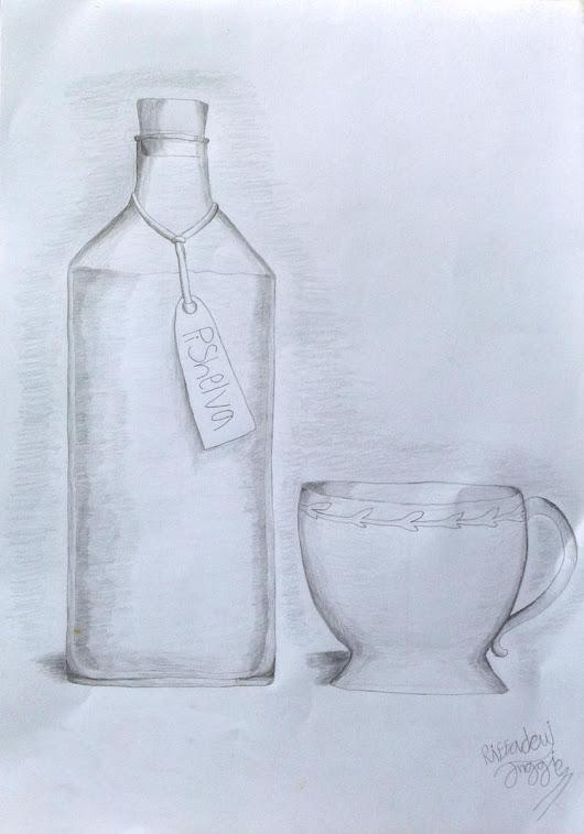 Gambar Gambar Seni Sketsa Pensil Botol Bir Unduh Bersama Sapawarga