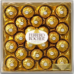 Ferrero Rocher Fine Hazelnut Chocolate - 24 count, 10.6 oz box