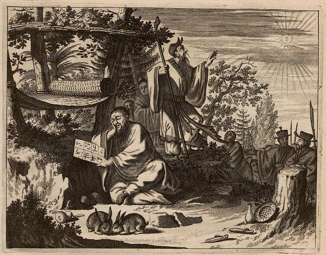17th century European book illustration of China