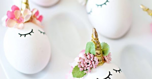 The most amazing DIY unicorn eggs for Easter. Because, whoa.