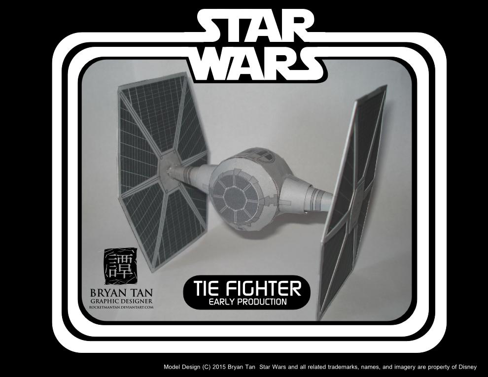 Star Wars Rebels Papercraft TIE Fighter