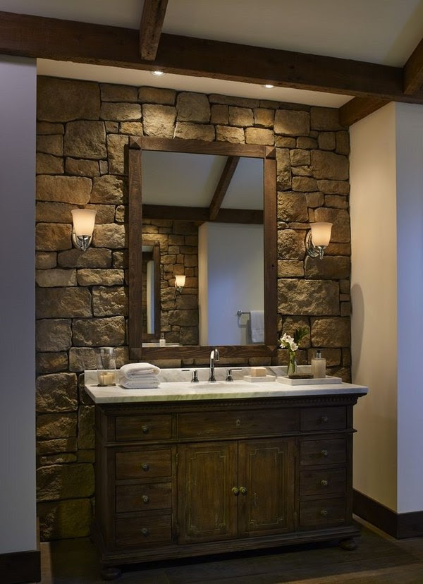 Stone bathroom ideas - original decorations with great ...