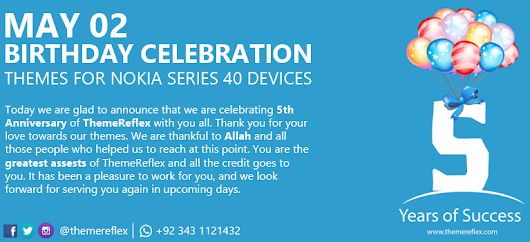 Happy Birthday ThemeReflex Themes for Nokia Series 40 Devices | ThemeReflex
