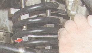 статья про Замена пружины передней подвески на автомобиле ВАЗ 2106