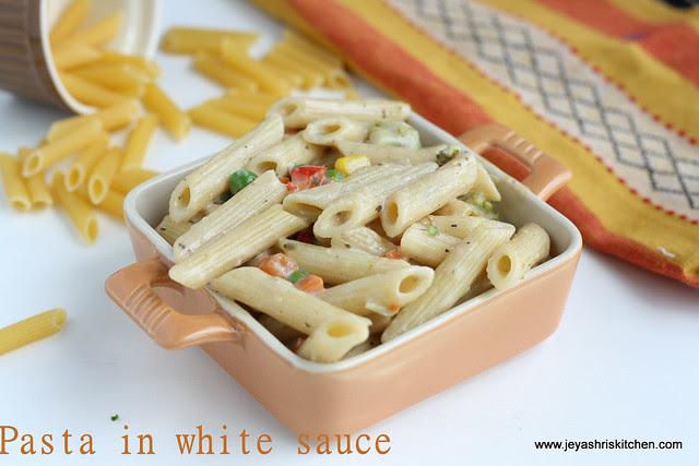 pasta in white sauce 3