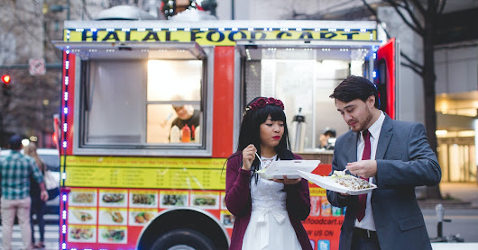 "Our Under-$15K Wedding: Bianca Brown & Carsie Mundy Had A Halal Cart ""Reception"""