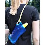 Aqua Sto 800ml Folding Bottle, BPA & PVC-free, by Seattle Sports