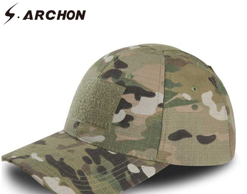 1012c69987128 S.ARCHON Adjustable Multicam Military Camouflage Hats For Men Airsoft  Snapback Tactical Baseball Caps Paintball Combat Army Hats