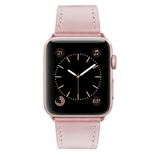 Apple Watch Band 38mm Genuine Leather iWatch Strap Series 1 and 2 Sport Rose | eBay http://ow.ly/taTK30h7d78...