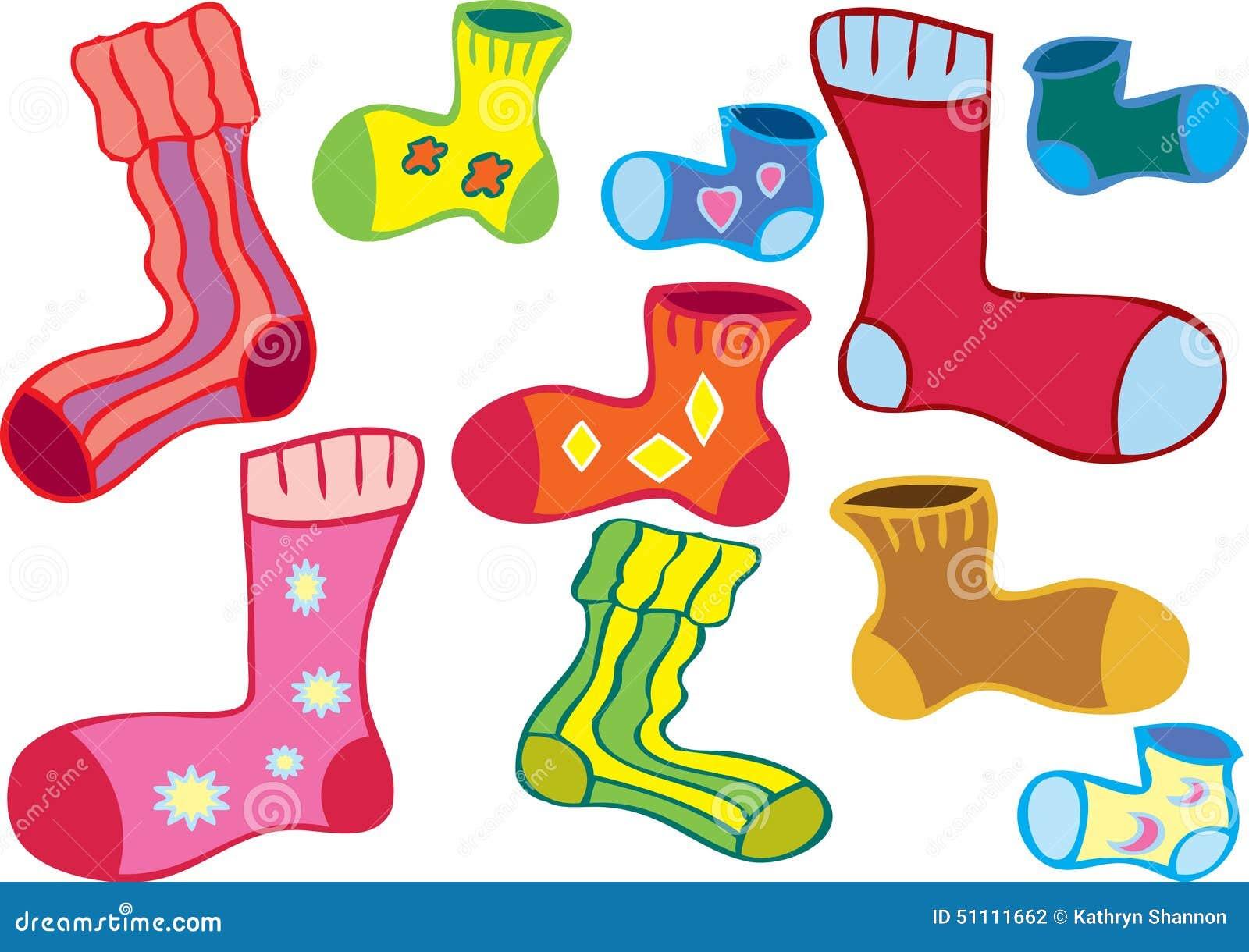 odd socks cartoon several different colored 51111662