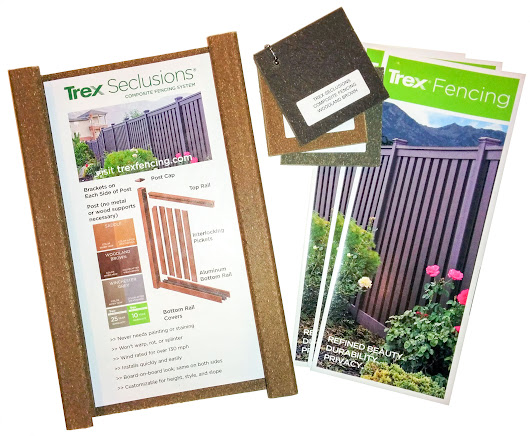 Order Sample - Trex Fencing, the Composite Alternative to Wood & Vinyl
