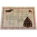 Carnation Home Fashions Letter to Santa Holiday Place Mat, Set of 4, Size: 13 x 18