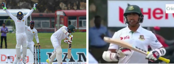 Has any batsman ever asked for a DRS after being clean bowled?