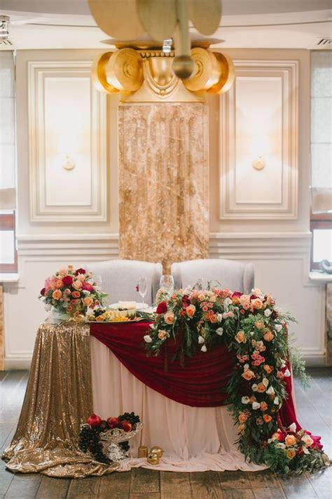 20 Fall Wedding Reception ? Sweetheart Table Ideas   Roses