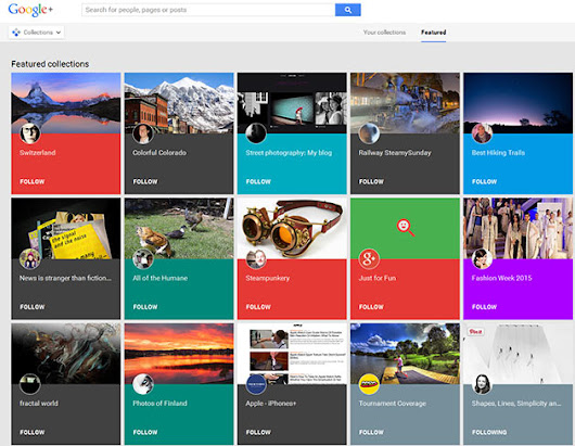 Google+ Collections for Business