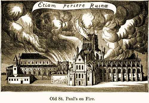Old St. Paul's on Fire
