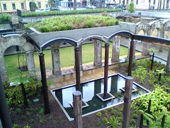 Garden supported by the Brick arches of the Paddington Reservoir Gardens