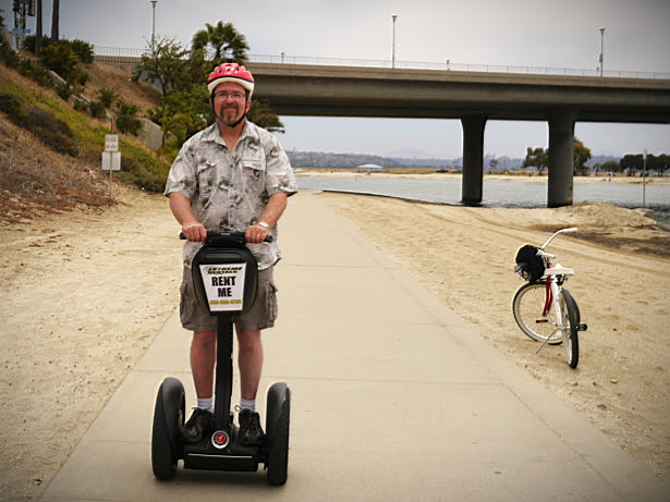 Joe, the Über-Tourist, on a Segway