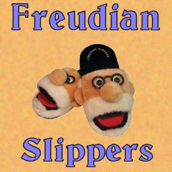 Freudian Slippers with Sock Tongue