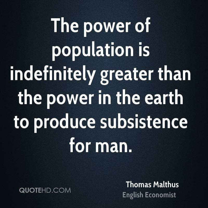 Image result for thomas malthus quotes