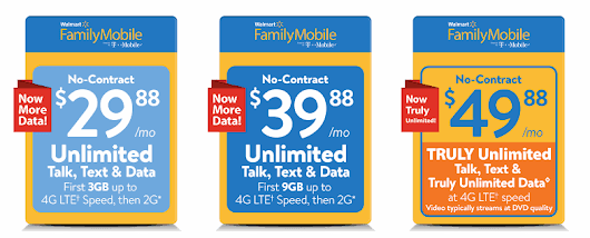 Walmart Family Mobile Now Has 9 GB Of LTE Data For $39.88/Month - BestMVNO