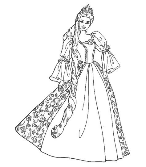 Beauty Princess Dress Coloring Pages >> Disney Coloring Pages
