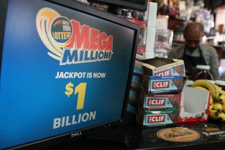 U.S. Mega Millions lottery hits record $1.6 billion after no winners in Friday's draw