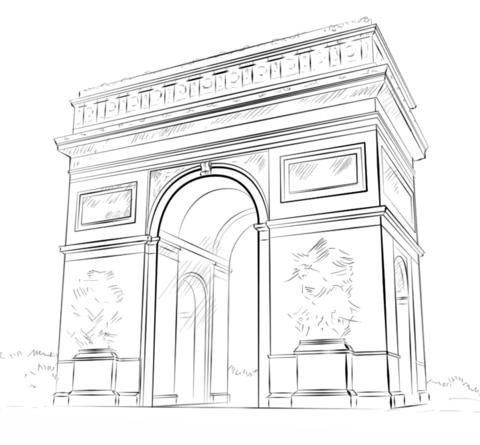 Coloriage Arc De Triomphe Coloriages à Imprimer Gratuits