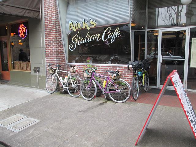 Bikes outside Nick's