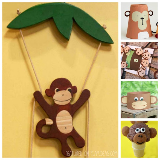 25 Mischievous Monkey Crafts For Kids - Play Ideas