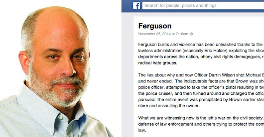 Mark Levin's Facebook Post on Michael Brown Goes Viral