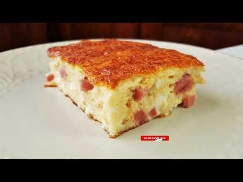 Ζαμπονοτυρόπιτα σουφλέ (Βίντεο)