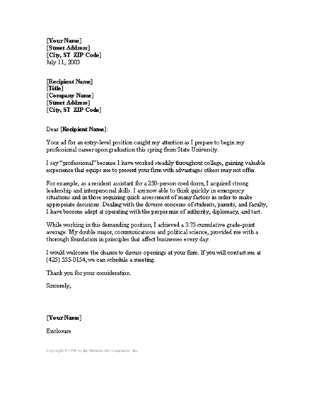 510 k cover letter - cover letter example entry level cover letter template word