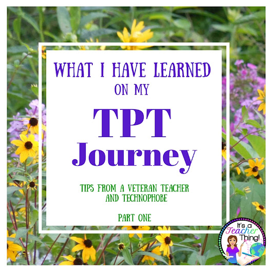 What I Have Learned on TPT-Part 1