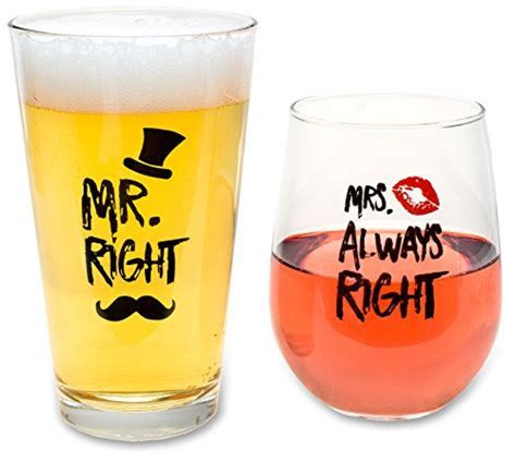 Funny Wedding Gifts   Mr. Right and Mrs. Always Right