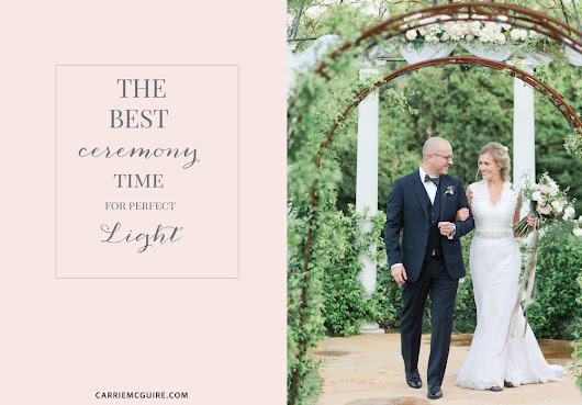 THE BEST CEREMONY TIME FOR PERFECT LIGHT