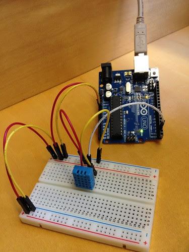 Arduino DHT11 temperature sensor