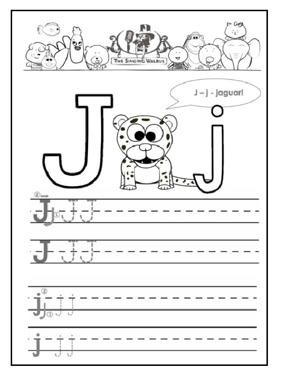 J Is For Jaguar Free Printable Worksheet Preschool Crafts